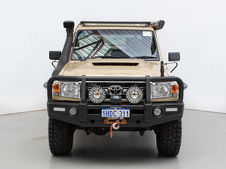 2019 Toyota Landcruiser VDJ79R GXL (4x4) Beige 5 Speed Manual Double Cab Chassis.