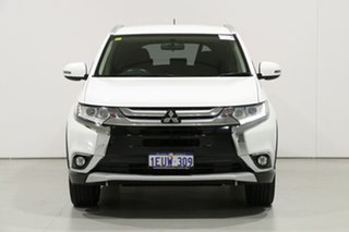 2015 Mitsubishi Outlander ZK MY16 LS (4x2) White Continuous Variable Wagon.