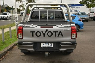 2017 Toyota Hilux TGN121R Workmate Double Cab 4x2 Silver 5 Speed Manual Utility