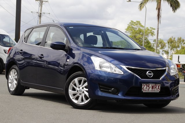 Used Nissan Pulsar C12 ST Rocklea, 2014 Nissan Pulsar C12 ST Deep Sapphire 1 Speed Constant Variable Hatchback