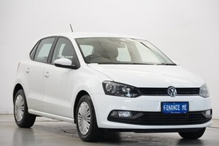2017 Volkswagen Polo 6R MY17 66TSI Trendline Pure White 5 Speed Manual Hatchback.