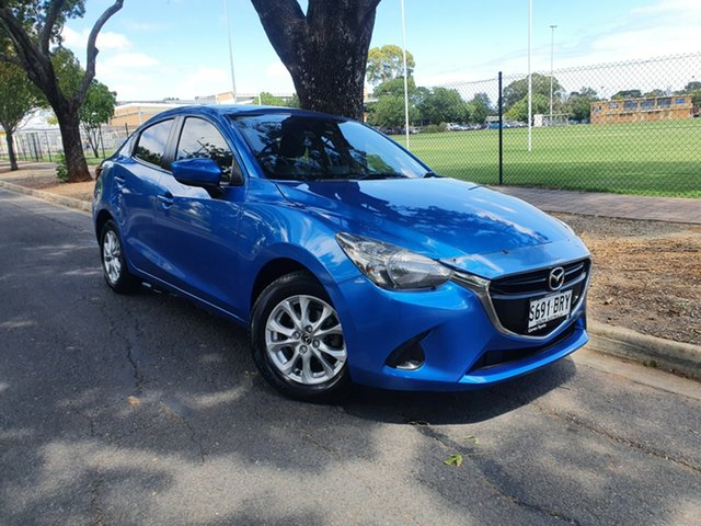 Pre-Owned Mazda 2 DL2SAA Maxx SKYACTIV-Drive Hawthorn, 2017 Mazda 2 DL2SAA Maxx SKYACTIV-Drive Blue/clo9th 6 Speed Sports Automatic Sedan