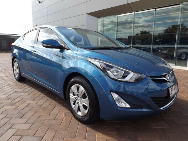 Used Hyundai Elantra MD3 Active Toowoomba, 2015 Hyundai Elantra MD3 Active Blue 6 Speed Manual Sedan