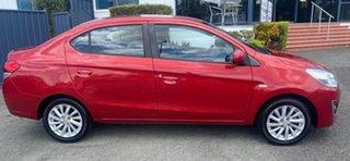 2014 Mitsubishi Mirage LA MY15 ES Red 1 Speed Constant Variable Sedan.