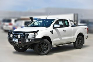 2013 Ford Ranger PX XLT Super Cab White 6 Speed Manual Utility.