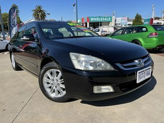 2007 Honda Accord 40 MY06 Upgrade V6 Luxury Black 5 Speed Automatic Sedan.