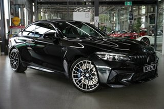2018 BMW M2 F87 LCI Competition M-DCT Pure Black 7 Speed Sports Automatic Dual Clutch Coupe.