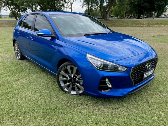 Pre-Owned Hyundai i30 PD MY18 SR D-CT South Grafton, 2017 Hyundai i30 PD MY18 SR D-CT Blue 7 Speed Sports Automatic Dual Clutch Hatchback