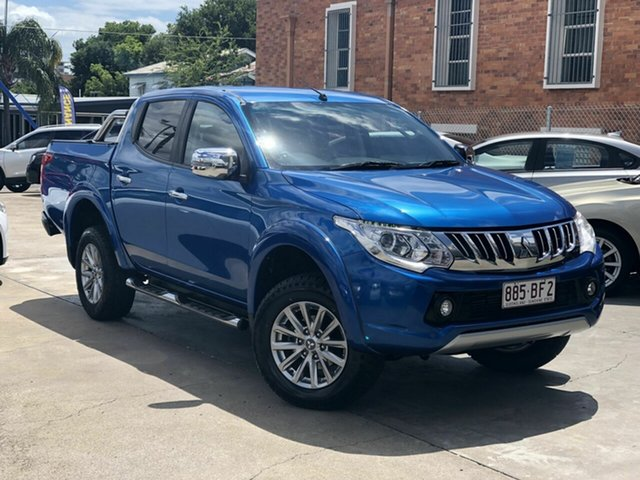 Used Mitsubishi Triton MQ MY16 GLS Double Cab Chermside, 2016 Mitsubishi Triton MQ MY16 GLS Double Cab Blue 5 Speed Sports Automatic Utility