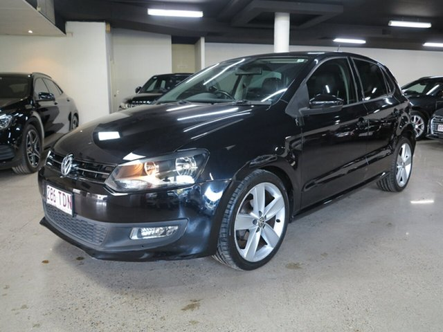 Used Volkswagen Polo 6R MY13 77TSI DSG Comfortline Albion, 2012 Volkswagen Polo 6R MY13 77TSI DSG Comfortline Black 7 Speed Sports Automatic Dual Clutch
