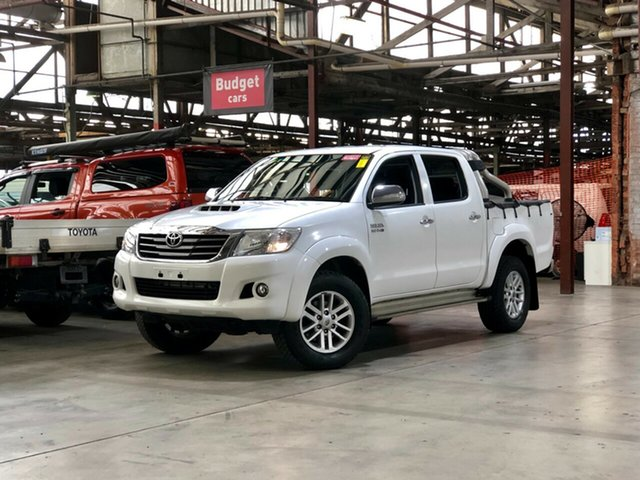 Used Toyota Hilux KUN26R MY14 SR5 Double Cab Mile End South, 2014 Toyota Hilux KUN26R MY14 SR5 Double Cab White 5 Speed Automatic Utility