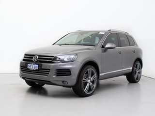 2014 Volkswagen Touareg 7P MY14 150 TDI Grey 8 Speed Automatic Wagon.