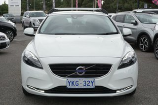 2015 Volvo V40 M Series MY15 D4 Adap Geartronic Luxury White 8 Speed Sports Automatic Hatchback.