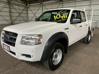 2007 Ford Ranger PJ XL Crew Cab 4x2 Hi-Rider White 5 Speed Automatic Utility.