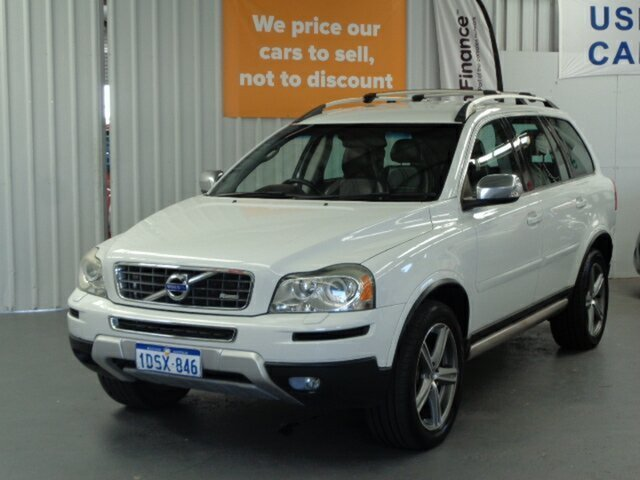 Used Volvo XC90 P28 MY11 R-Design Geartronic Rockingham, 2011 Volvo XC90 P28 MY11 R-Design Geartronic White 6 Speed Sports Automatic Wagon