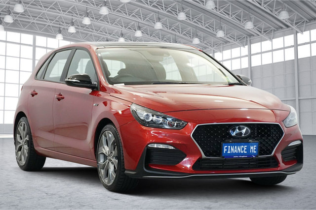 Used Hyundai i30 PD.3 MY20 N Line D-CT Premium Victoria Park, 2019 Hyundai i30 PD.3 MY20 N Line D-CT Premium Lava Orange 7 Speed Sports Automatic Dual Clutch