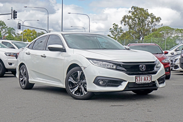 Used Honda Civic 10th Gen MY19 RS Ebbw Vale, 2019 Honda Civic 10th Gen MY19 RS White 1 Speed Constant Variable Sedan