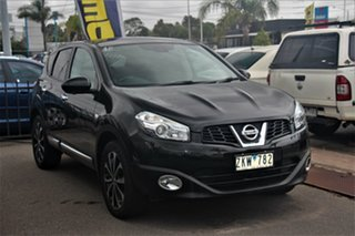 2012 Nissan Dualis J10W Series 3 MY12 Ti-L Hatch X-tronic 2WD Black 6 Speed Constant Variable.