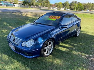 2007 Mercedes-Benz C-Class CL203 MY07 C180 Kompressor Sports Evolution Blue 5 Speed Automatic Coupe.