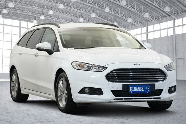 Used Ford Mondeo MD 2018.25MY Ambiente Victoria Park, 2018 Ford Mondeo MD 2018.25MY Ambiente White 6 Speed Sports Automatic Dual Clutch Wagon