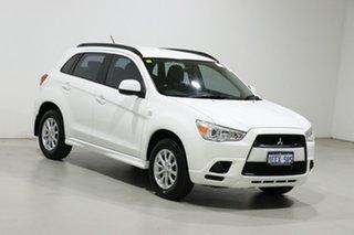 2012 Mitsubishi ASX XA MY12 (2WD) White Continuous Variable Wagon