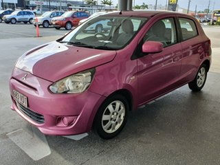 2013 Mitsubishi Mirage LA MY14 Sport Magenta 5 Speed Manual Hatchback