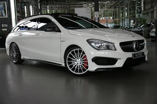 2016 Mercedes-Benz CLA-Class X117 806MY CLA45 AMG Shooting Brake SPEEDSHIFT DCT 4MATIC White 7 Speed.