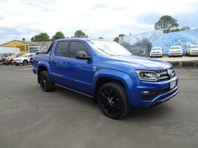 Used Volkswagen Amarok 2H MY19 TDI580 4MOTION Perm Highline Black Nowra, 2019 Volkswagen Amarok 2H MY19 TDI580 4MOTION Perm Highline Black Ravenna Blue 8 Speed Automatic
