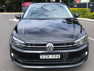 2018 Volkswagen Polo AW MY19 70TSI DSG Trendline Black 7 Speed Sports Automatic Dual Clutch.