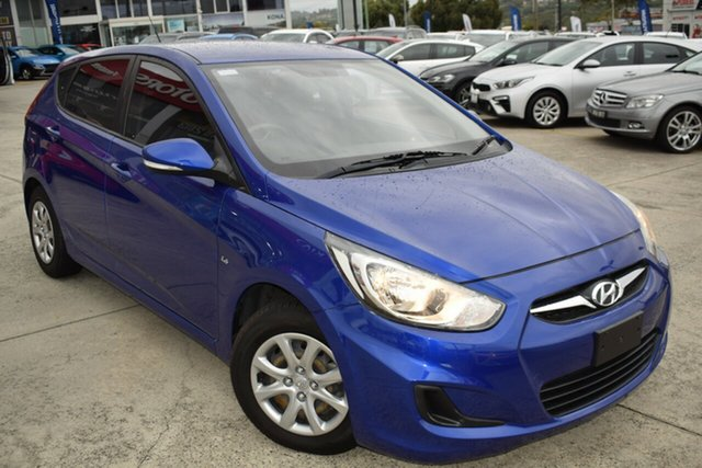 Used Hyundai Accent RB Active Ferntree Gully, 2013 Hyundai Accent RB Active Blue 5 Speed Manual Hatchback