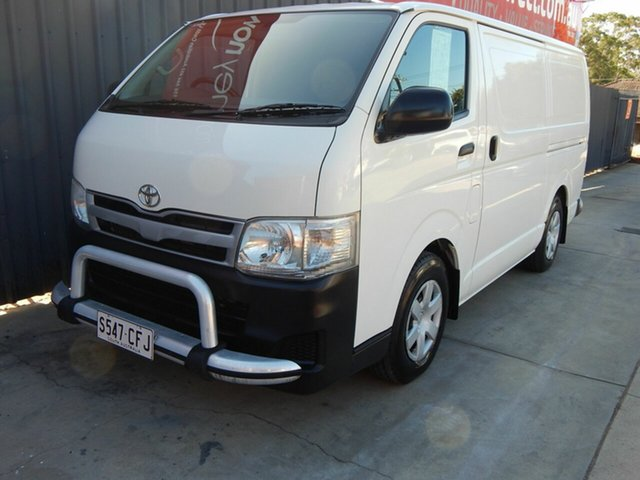 Used Toyota HiAce KDH201R MY11 LWB Blair Athol, 2011 Toyota HiAce KDH201R MY11 LWB White 5 Speed Manual Van