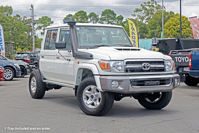 Used Toyota Landcruiser VDJ79R GXL Double Cab Chandler, 2020 Toyota Landcruiser VDJ79R GXL Double Cab White 5 Speed Manual Cab Chassis