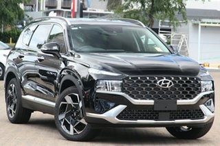 2020 Hyundai Santa Fe Tm.v3 MY21 Elite Phantom Black 8 Speed Sports Automatic Wagon.