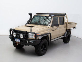 2019 Toyota Landcruiser VDJ79R GXL (4x4) Beige 5 Speed Manual Double Cab Chassis