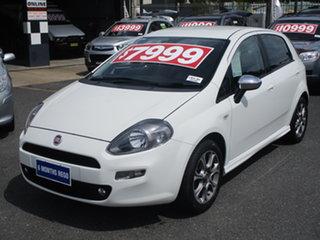 2013 Fiat Punto MY13 Lounge White 5 Speed Automated Manual Hatchback.
