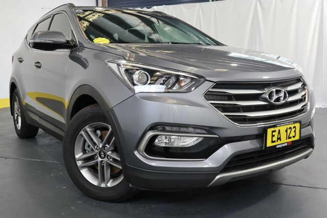 Used Hyundai Santa Fe DM3 MY17 Active Castle Hill, 2016 Hyundai Santa Fe DM3 MY17 Active Grey 6 Speed Sports Automatic Wagon
