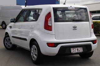 2012 Kia Soul AM MY13 Clear White 6 Speed Manual Hatchback.