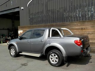 2007 Mitsubishi Triton ML MY07 GLX-R Double Cab Grey 5 Speed Manual Utility