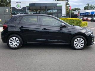 2018 Volkswagen Polo AW MY19 70TSI DSG Trendline Black 7 Speed Sports Automatic Dual Clutch.