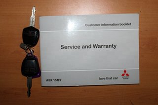 2014 Mitsubishi ASX XB MY15 LS 2WD Blue 6 Speed Constant Variable Wagon