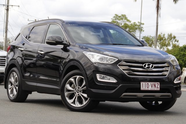 Used Hyundai Santa Fe DM2 MY15 Highlander Rocklea, 2015 Hyundai Santa Fe DM2 MY15 Highlander Phantom Black 6 Speed Sports Automatic Wagon