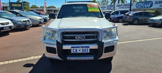 2007 Ford Ranger PJ XL Hi-Rider White 5 Speed Manual Cab Chassis.