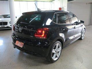 2012 Volkswagen Polo 6R MY13 77TSI DSG Comfortline Black 7 Speed Sports Automatic Dual Clutch.