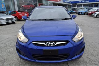 2013 Hyundai Accent RB Active Blue 5 Speed Manual Hatchback.