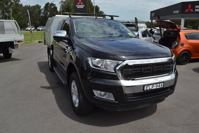 Used Ford Ranger PX MkII XLT Super Cab Maitland, 2016 Ford Ranger PX MkII XLT Super Cab Black 6 Speed Sports Automatic Utility
