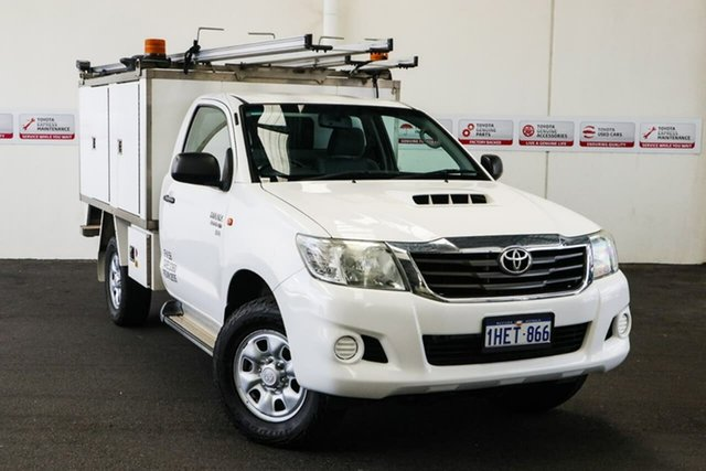 Pre-Owned Toyota Hilux KUN26R MY12 SR (4x4) Myaree, 2013 Toyota Hilux KUN26R MY12 SR (4x4) Glacier White 5 Speed Manual X Cab Pickup