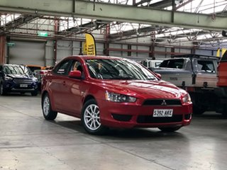 2011 Mitsubishi Lancer CJ MY11 SX Red 6 Speed Constant Variable Sedan.
