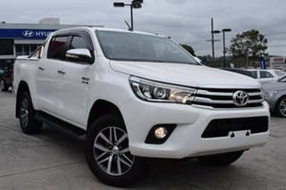 2015 Toyota Hilux GUN126R SR5 Double Cab White 6 Speed Sports Automatic Utility.