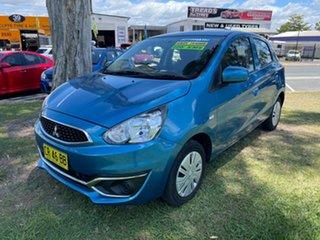 2018 Mitsubishi Mirage LA MY19 ES Blue 1 Speed Constant Variable Hatchback.