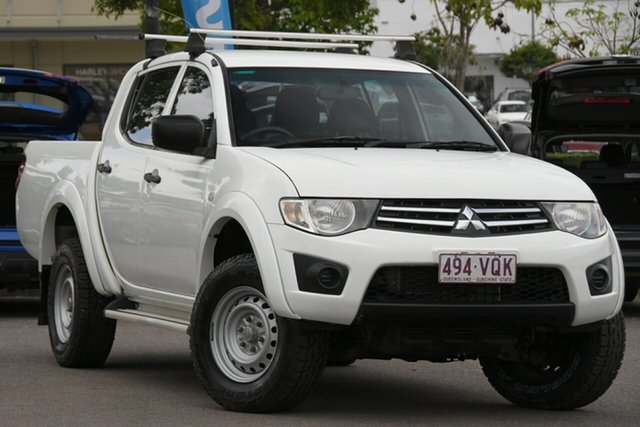 Used Mitsubishi Triton MN MY15 GLX Double Cab Windsor, 2015 Mitsubishi Triton MN MY15 GLX Double Cab White 5 Speed Manual Utility